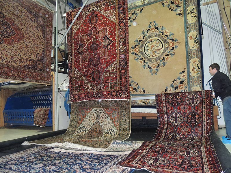 """Bellingham WA. You won't find another Oriental carpet """"wash plant"""" north of Seattle. This is a facility dedicated to Oriental area rug cleaning."""